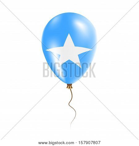 Somalia Balloon With Flag. Bright Air Ballon In The Country National Colors. Country Flag Rubber Bal