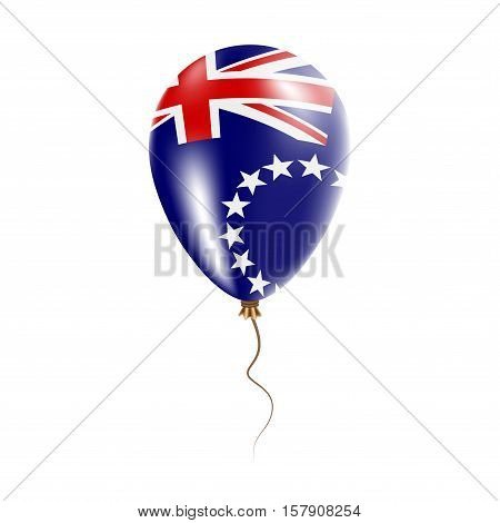 Cook Islands Balloon With Flag. Bright Air Ballon In The Country National Colors. Country Flag Rubbe