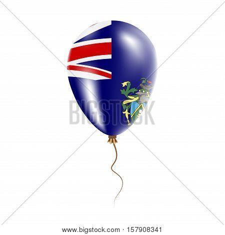 Pitcairn Balloon With Flag. Bright Air Ballon In The Country National Colors. Country Flag Rubber Ba
