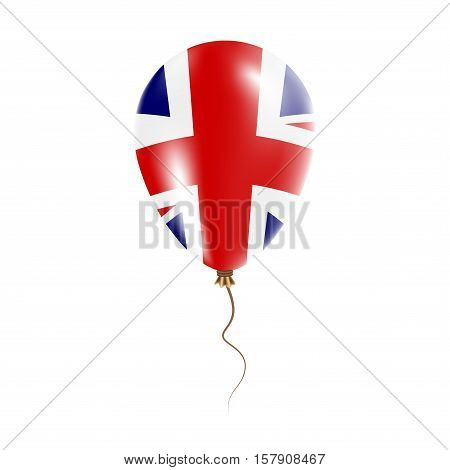 United Kingdom Balloon With Flag. Bright Air Ballon In The Country National Colors. Country Flag Rub