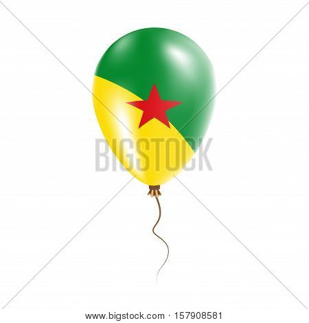 French Guiana Balloon With Flag. Bright Air Ballon In The Country National Colors. Country Flag Rubb