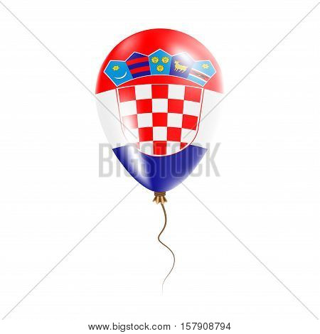 Croatia Balloon With Flag. Bright Air Ballon In The Country National Colors. Country Flag Rubber Bal