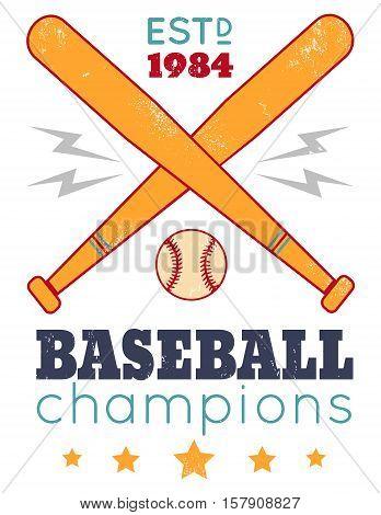 Vintage poster for baseball on grunge background