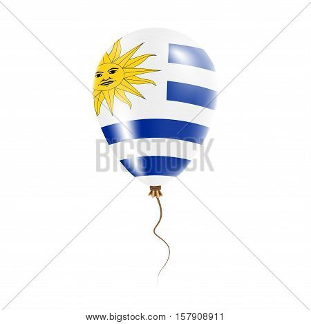 Uruguay Balloon With Flag. Bright Air Ballon In The Country National Colors. Country Flag Rubber Bal