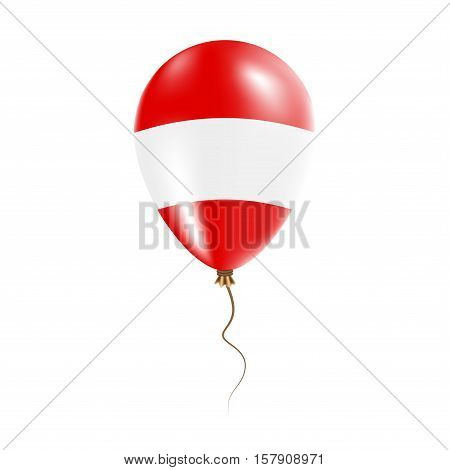 Austria Balloon With Flag. Bright Air Ballon In The Country National Colors. Country Flag Rubber Bal