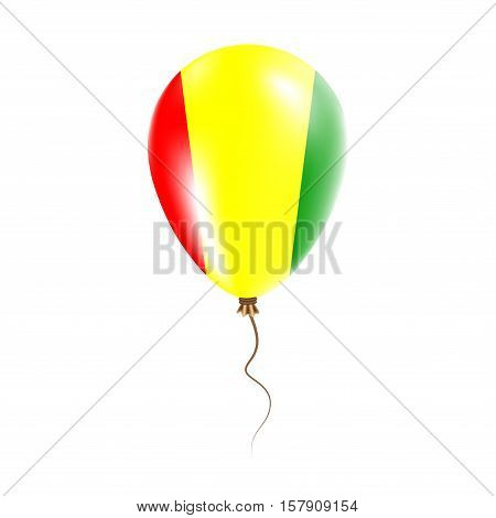 Guinea Balloon With Flag. Bright Air Ballon In The Country National Colors. Country Flag Rubber Ball