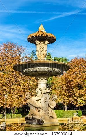 Alcachofa Fountain in the Buen Retiro Park - Madrid, Spain
