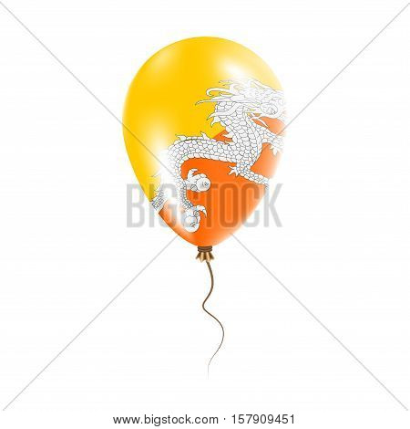 Bhutan Balloon With Flag. Bright Air Ballon In The Country National Colors. Country Flag Rubber Ball