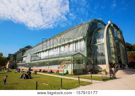 Greenhouse In The Jardin Des Plantes In Paris