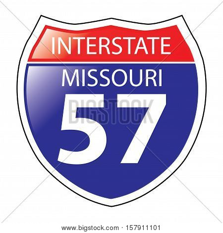 Layered artwork of Missouri I-57 Interstate Sign