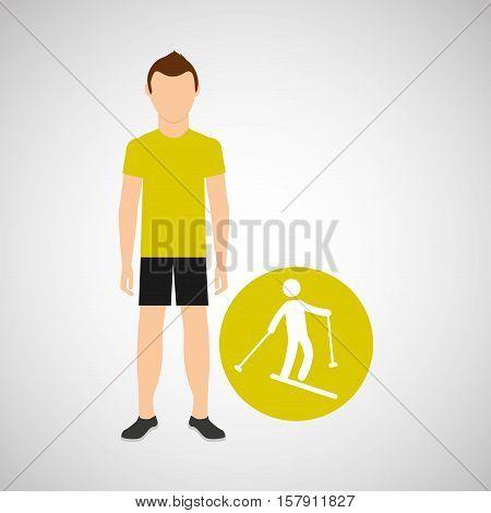 sport man concept skiing icon design vector illustration eps 10