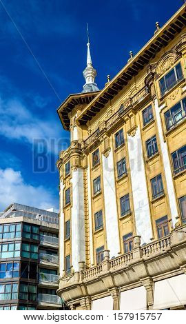 Buildings in the city centre of San Sebastian - Spain, Basque Country