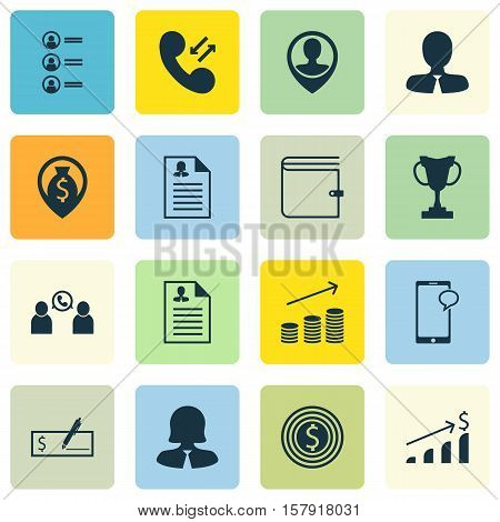 Set Of Human Resources Icons On Bank Payment, Job Applicants And Employee Location Topics. Editable
