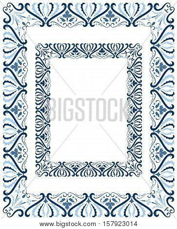 Classic central European style ornate border design