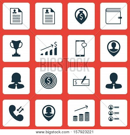 Set Of Management Icons On Money Navigation, Business Goal And Successful Investment Topics. Editabl