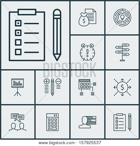 Set Of Project Management Icons On Personal Skills, Innovation And Money Topics. Editable Vector Ill