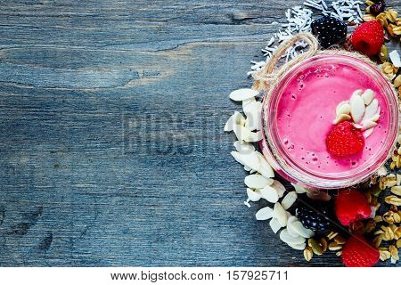 Pink Fruit Smoothie