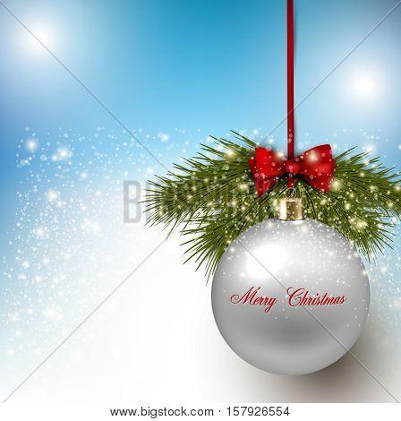 Elegant shiny Christmas background. Vector Illustration.