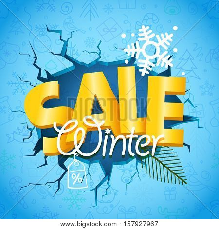 Winter season sale banner. Winter commerce concept