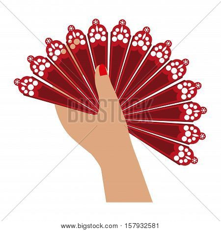 fan flamenco accesory icon vector illustration design