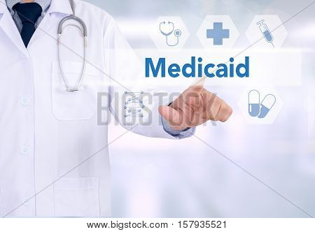 Medical Insurance And Medicaid And Stethoscope.