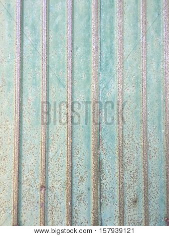 Old zinc plate green colors texture. Rusted galvanized iron. rusty zinc steel plate texture.