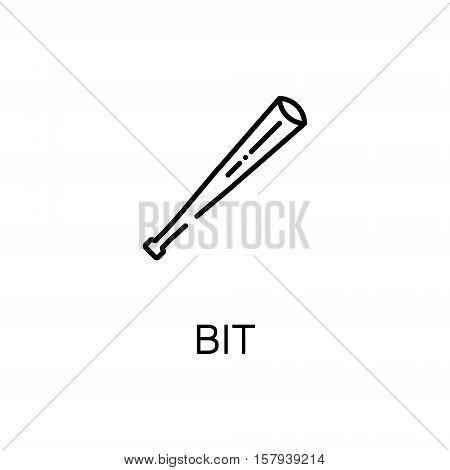 Sport Bit icon. Single high quality outline symbol of sport equipment for web design or mobile app. Thin line signs of sport bit for design logo, visit card, etc. Outline pictogram of bit
