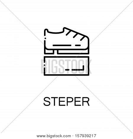 Stepper flat icon. Single high quality outline symbol of sport equipment for web design or mobile app. Thin line signs of stepper for design logo, visit card, etc. Outline pictogram of stepper