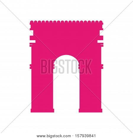 arch of triumph landmark icon vector illustration design