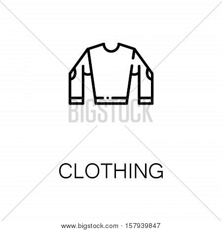 Clothing flat icon. Single high quality outline symbol of outdoor activity for web design or mobile app. Thin line signs of clothing for design logo, visit card, etc. Outline pictogram of clothing