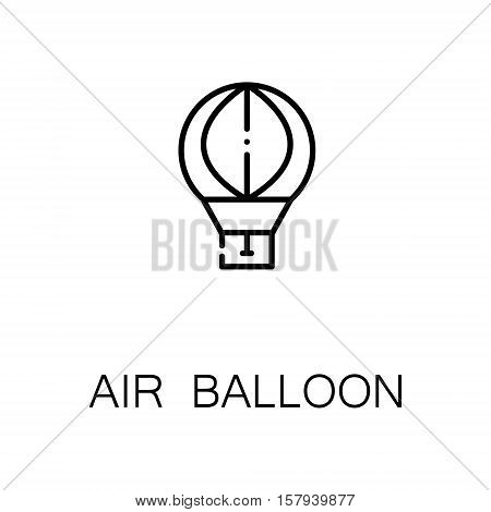 Air balloon flat icon. Single high quality outline symbol of outdoor activity for web design or mobile app. Thin line signs of air ballon for design logo, visit card, etc. Outline pictogram of air ballon