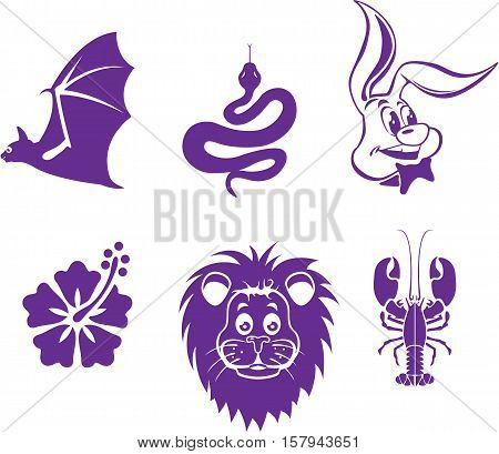 Animal elements vector illustration clip-art image eps file