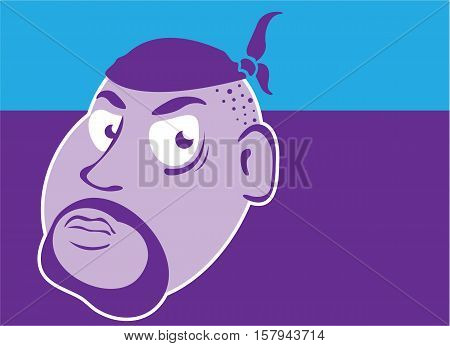 Gangster in bandana vector illustration clip-art image