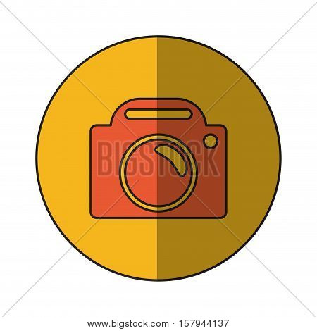 Camera icon. Device gadget technology and photography theme. Isolated design. Vector illustration