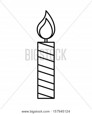 candle flame isolated icon vector illustration design