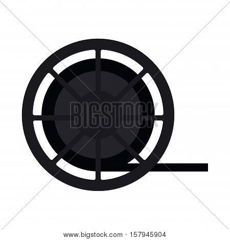Film reel icon. Cinema movie video film and media theme. Isolated design. Vector illustration