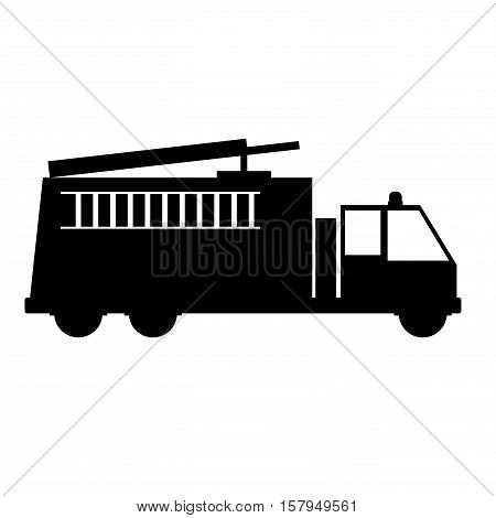 Fire truck vehicle icon. Emergency tool rescue save and department theme. Isolated design. Vector illustration