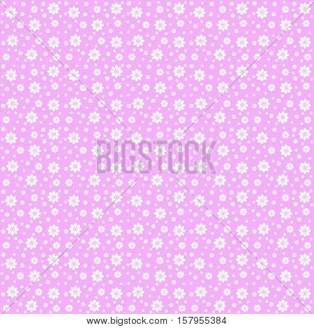 Vector pink floral texture pattern. Blue flowers pattern.