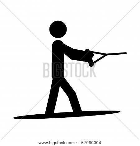 Pictogram practice barefooting icon. Sport hobby people person and human theme. Isolated design. Vector illustration