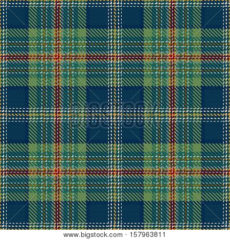 Tartan Seamless Pattern. Trendy Vector Illustration for Wallpapers. Seamless Tartan Tiles. Traditional Scottish Ornament. Tartan Plaid Inspired Background.