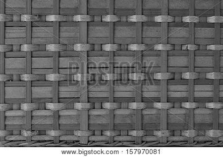 Black And White Bamboo Basketry Background And Texture