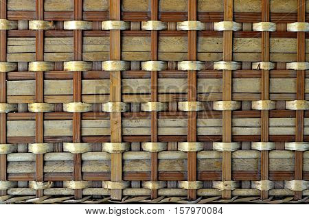 Grunge Bamboo Brown Wooven Basketry Background Texture