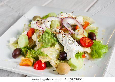 Salad Dining Side Dish Vegetable Appetizer Greek Mediterranean Cuisine Concept