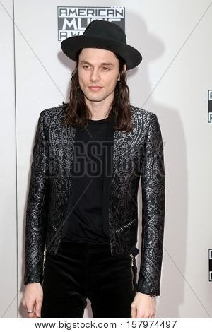 LOS ANGELES - NOV 20:  James Bay at the 2016 American Music Awards at Microsoft Theater on November 20, 2016 in Los Angeles, CA