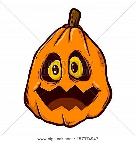 Vector stock of pumpkin funny looking head halloween monster