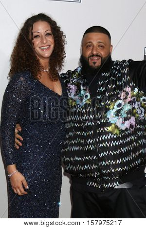 LOS ANGELES - NOV 20:  Nicole Tuck, DJ Khaled at the 2016 American Music Awards at Microsoft Theater on November 20, 2016 in Los Angeles, CA