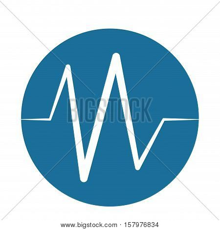 heart beat pulse monitoring blue background vector illustration eps 10