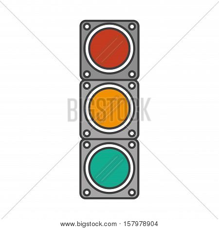 Semaphore lights icon. Signal road traffic and urban theme. Isolated design. Vector illustration