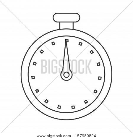 Chronometer tool icon. Time instrument second and sport theme. Isolated design. Vector illustration