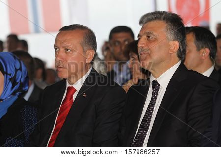 SIIRT, TURKEY - MAY-19: Alkumru Hydroelectric Power Plant Santral is opened on May 19, 2011 in Siirt, Turkey.. The even is attended by Prime Minister Tayyip Erdoan and President Abdullah Gül.